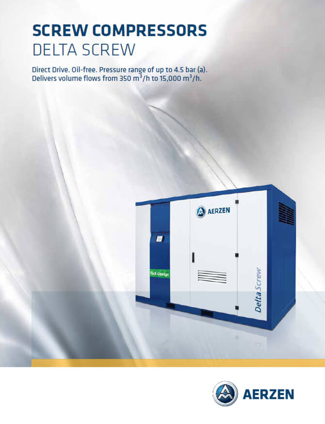 Винтови компресори Aerzen Delta Screw Direct Drive PDF каталог