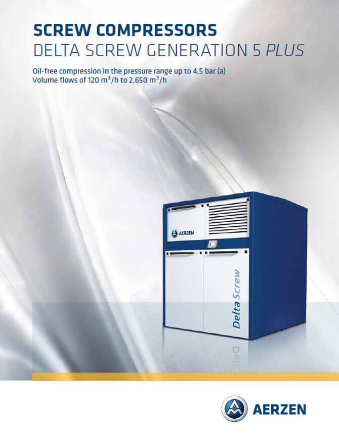 Aerzen Delta Screw Compressors with belt drive - PDF catalogue