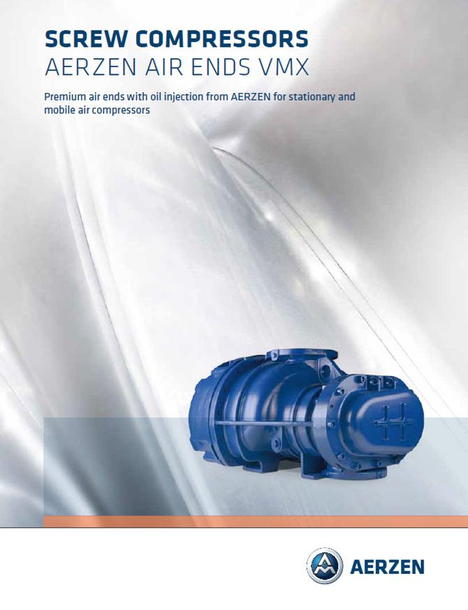 PDF каталог на винтови компресори Aerzen Oil-injected Screw Compressors VMX