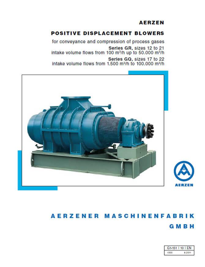 Въздуходувки Aerzen Process Gas Blowers GQseries, PDF каталог