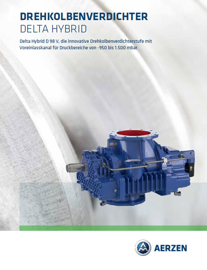 Aerzen Rotary Lobe Compressors Stage Delta Hybrid D98V - PDF catalogue