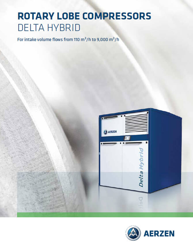 Ротационен Lobe компресор Aerzen Rotary Lobe Compressors DELTA HYBRID, PDF каталог
