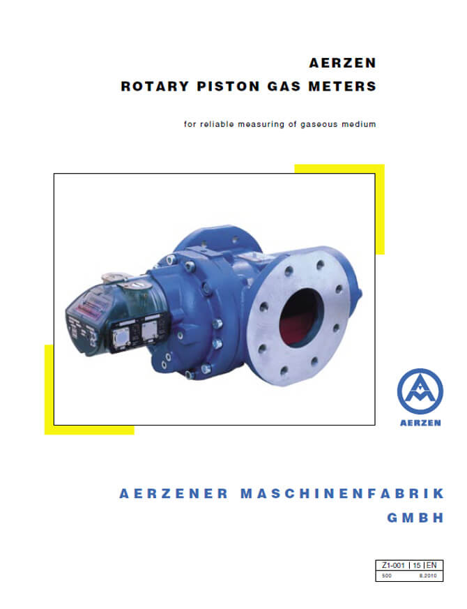 Aerzen Rotary Piston Gas Meters - PDF catalogue