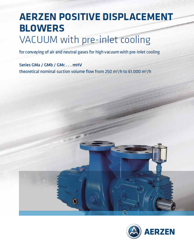 Aerzen Positive Displacement Blowers, Vacuum Pre-inlet cooling - PDF catalogue