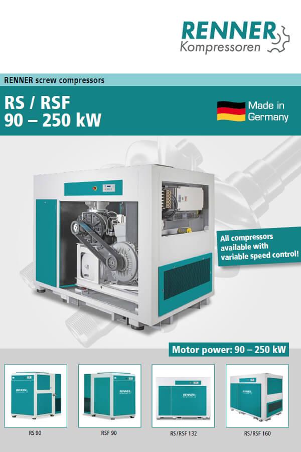 Renner винтови компресори RS / RSF 90-250 kW