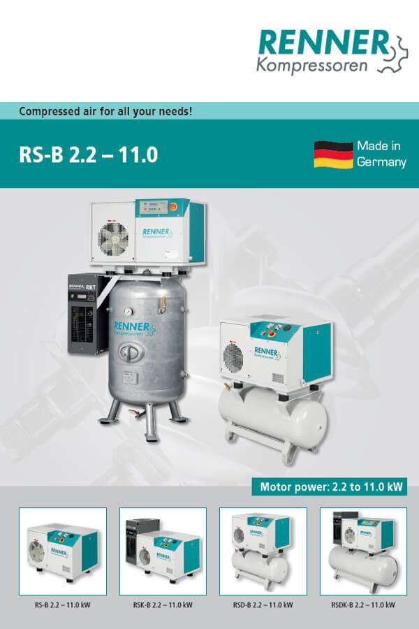 Renner винтови компресори RS-B 2.2-11 kW
