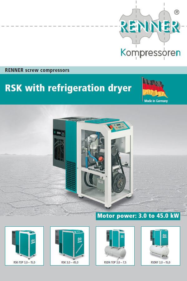 Renner винтови компресори серия RSK 3-45kW