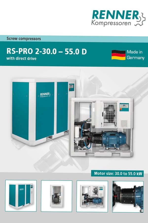 Renner винтови компресори RS-PRO 2-30-55 D