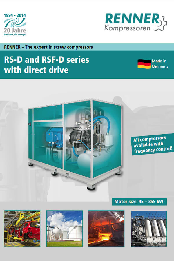 Renner винтови компресори RS-D and RSF-D 95-355 kW